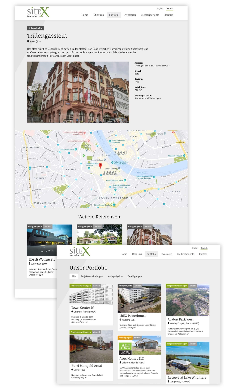 Weitere Seiten der SitEX Website