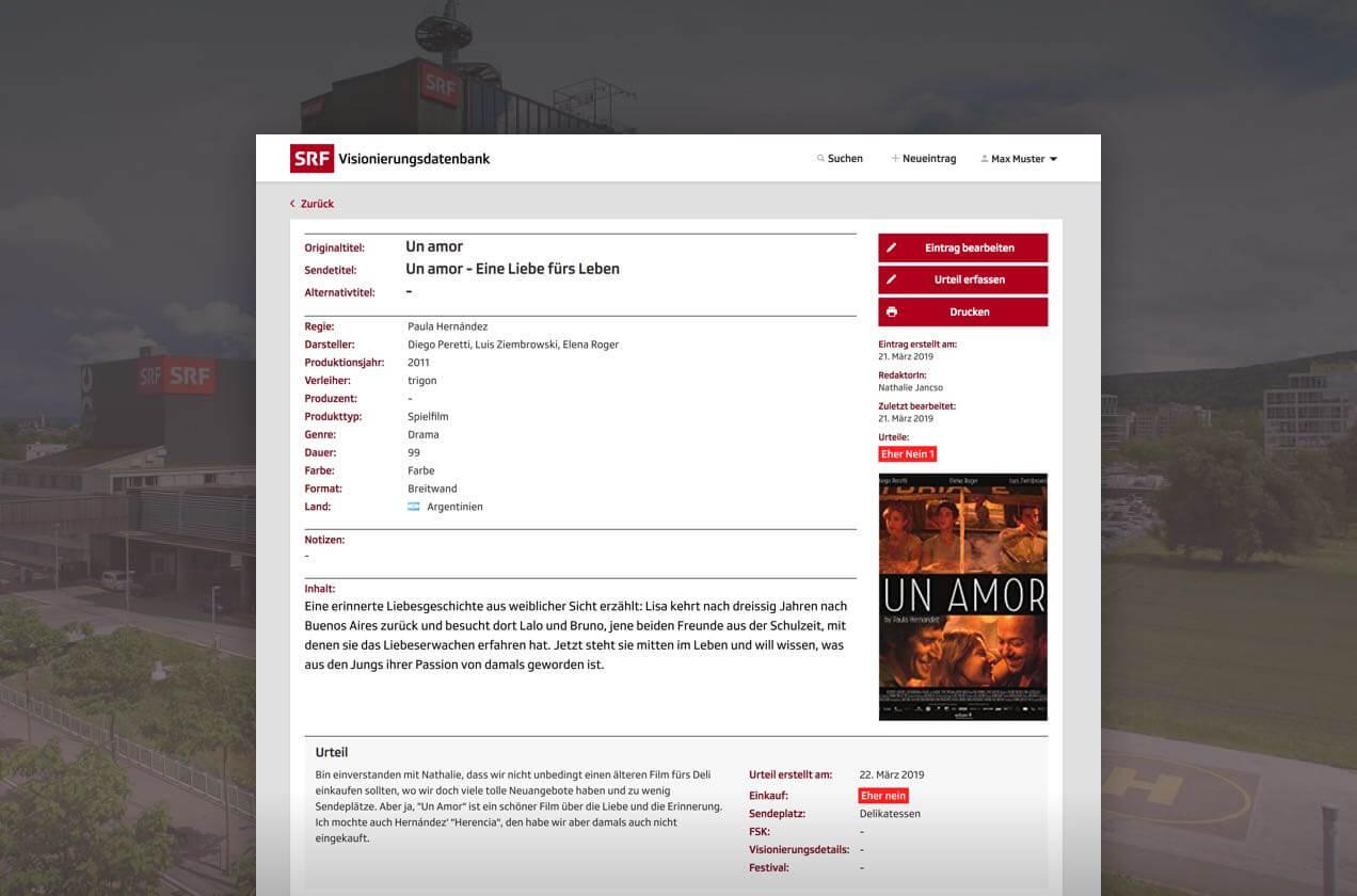 Thumbnail SRF Film database case study